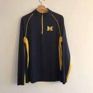 University of Michigan wolverines quarter zip